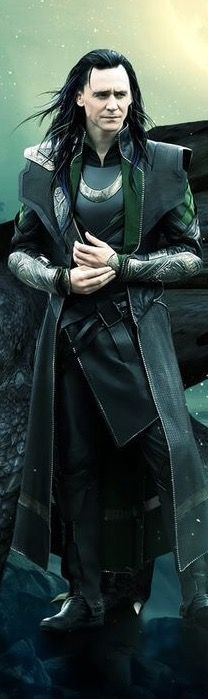 I really love the way Loki looks in this picture, but I do not like dragons. So, I got rid of it.