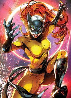 X-Men Red Marvel Battle Lines Variant Cover - Hellcat by Jong-Ju Kim * Marvel Girls, Marvel Avengers, Marvel Comics Art, Bd Comics, Comics Girls, Marvel Comic Character, Comic Book Characters, Marvel Characters, Comic Books Art