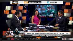 ESPN First Take Today 9-12-16 - Philadelphia Eagles Destroy Cleveland Br...