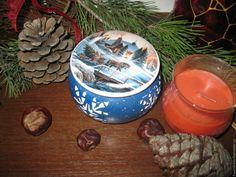 """Купить """"Зима"""" - тёмно-синий, шкатулка, шкатулка для украшений, шкатулка декупаж, Новый Год"""