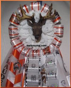 made by www.melzmumz.com   Mega Single Homecoming Garter Senior Marcus High School  Mounted Deer Head   Hunting Themed