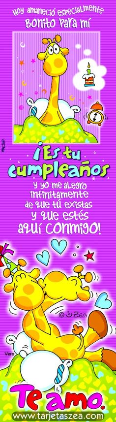 que alegría-Tarjeta de cumpleaños-Vera © ZEA www.tarjetaszea.com