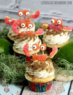 The Cutest Crab Cupcakes — Life of a Southern Mom