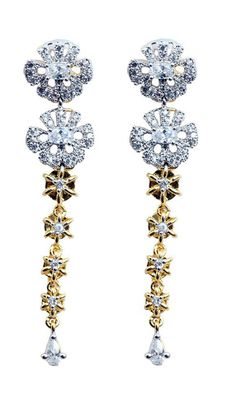 Buy Waama Jewels Sonam Style Cubic Zirconia Alloy Drop Earring, best on today, dainty feather, bollywood designer earrings, fit every cloths, earring wje03 Online at Low Prices in India - Paytm.com