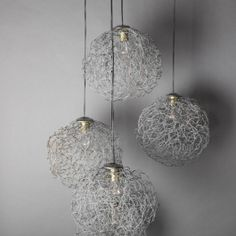 Wire Spheres Cluster Lamp