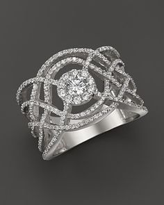 Diamond Band in 14K White Gold, .90 ct. t.w. | Bloomingdale's
