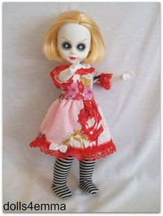 Toile du Jouy - OOAK Handmade Baby-Doll Dress and Goth Leotards for Living Dead Dolls. Available on ebay: by DOLLS4EMMA $21.99