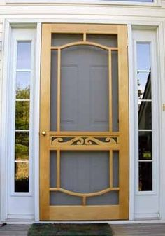 Simple Screen Door Could Be Fitted With A Canvas Roll Down Cover. Change  Pine Trees To Stars, Starfish, Etc. | Porch Ideas | Pinterest | Pine Tree,  ...