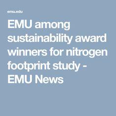 EMU among sustainability award winners for nitrogen footprint study - EMU News