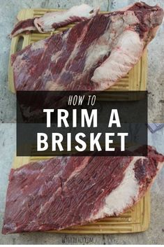 Trimming a brisket is essential to getting the perfect smoke on your beef brisket. This step by step guide will teach you all you need to know on how to trim a brisket so it can be beautifully prepared before going on the smoker. Brisket Meat, Brisket Rub, Beef Brisket Recipes, Smoked Beef Brisket, Smoked Meat Recipes, Traeger Recipes, Spinach Recipes, Grilling Recipes, Pork Recipes
