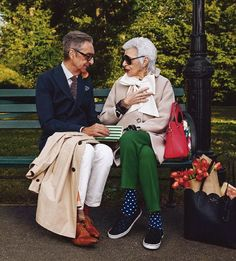 Karlie Kloss and Iris Apfel for Kate Spade