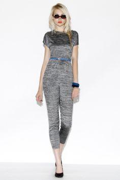 Vintage 90s Space Dye Knit Top + Pants Set http://thriftedandmodern.com/vintage-90s-space-dye-knit-top-pants-set