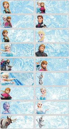 60 Disney Frozen pictures personalised name label (Large size) Frozen Bday Party, Disney Princess Birthday Party, Frozen Theme, Printable Name Tags, Printable Labels, Frozen Printable, Frozen Classroom, Name Tag For School, Frozen Tags