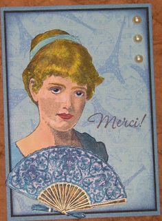 Ink Stains: Merci...Fussy Cutting Fun Card - Third Coast Rubber Stamps