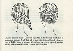 How to do a French Wrap! (we called it a French Twist.  I used to do my Mom's hair for her like this back in the early sixties.  She had pearl hair pins I would use to fancy it up)