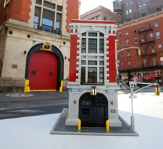 here are the first official shots of the lego ghostbusters firehouse rh pinterest com