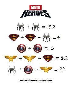 The Viral Math Heroes Puzzle. Only for genius puzzle. Can you solve this viral puzzle. Viral Math Puzzles image with answer. Math For Kids, Fun Math, Math Games, Math Activities, Math College, Logic Math, Colegio Ideas, Math Enrichment, Math Talk