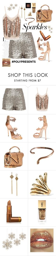 """""""#PolyPresents: Sparkly Beauty"""" by yaya-stylez ❤ liked on Polyvore featuring beauty, Soprano, Giuseppe Zanotti, Yves Saint Laurent, Madina Visconti di Modrone, INC International Concepts, Lisa Eisner, Lipstick Queen, GE and Bobbi Brown Cosmetics"""