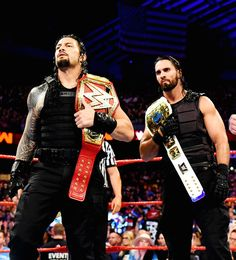 Roman and Seth, brothers standing together Roman Reigns Wwe Champion, Wwe Superstar Roman Reigns, Wwe Roman Reigns, Best Wwe Wrestlers, Roman Reigns Dean Ambrose, The Shield Wwe, Wwe Action Figures, Fc Bayern Munich, Wwe Champions