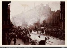 A fire in Oxford Street, London, 1897.