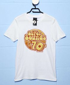 K-Billys Super Sounds Of The 70S T Shirt - White / 2XL