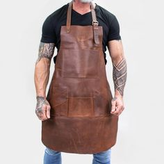 Distressed Leather, Cow Leather, Leather Working, Metal Working, Work Aprons, Leather Apron, Leather Workshop, Aprons For Men, Apron Pockets