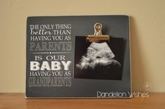 Photo Frame for New Grandparents The Only by DandelionWishesDesig