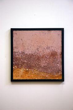 "Margaret Boozer Lavender and Gold Horizon, 2011 unfired clays, , steel 30"" x 30"" x 2"""