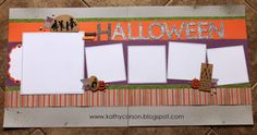 CTMH Nevermore Halloween layout with Nevermore Complements.