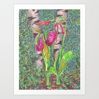 Art Print featuring Lady Slippers by Juliana Kroscen Got Print, Design Trends, Stationery, Slippers, Lady, Originals, Prints, Artwork, Painting