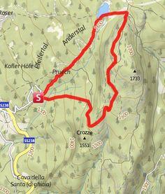 Cartina / Anello tra i boschi dell'alta Val di Non con sosta rigenerante al Lago di Tret