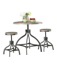 Acme Furniture Inc. Gray Fatima Three-Piece Adjustable Table Set | zulily