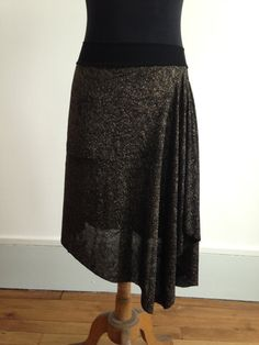 Tango skirt black and golden sparkles by BellaTango on Etsy