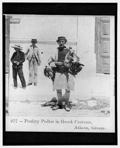 1895. Athens. Poultry pedlar.