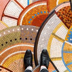 """roguestars: """" enjoyyourbunny: """" archatlas: """" Parisian Floors Sebastian Erras """" Why is this person ruining the view of beautiful art with their ugly shoes? Tile Art, Mosaic Art, Mosaic Glass, Mosaic Tiles, Mosaics, Tiling, Floor Patterns, Mosaic Patterns, Textures Patterns"""