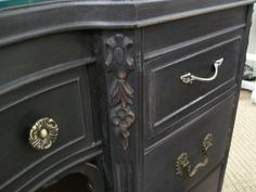 """Annie Sloan Graphite Furniture 