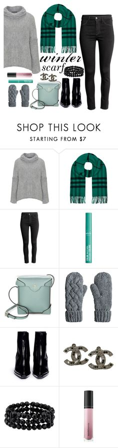 """""""scarfs 💙"""" by aluin ❤ liked on Polyvore featuring Amandine, Burberry, NYX, MANU Atelier, Reike Nen, Chanel, 1928, Bare Escentuals and winterscarf"""