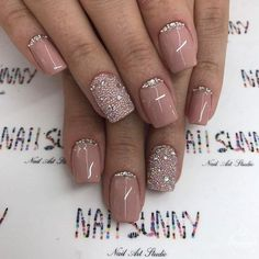 Dressed up nude nails