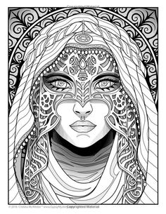 Creative Haven Fanciful Faces Coloring Book Welcome to Dover ...