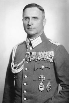 """Half-Jew"" and later Luftwaffe General Helmut Wilberg; Hitler declared him Aryan in (Military awards: Hohenzollern's Knight's Cross with Swords, EKI, EKII. German Uniforms, Military Uniforms, Germany Ww2, Jewish History, The Third Reich, German Army, Military History, World War Ii, Wwii"