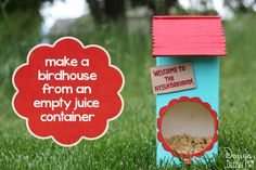 Make a birdhouse from an empty container - Design Dazzle