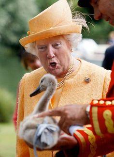 Trump as the Queen - Imgur