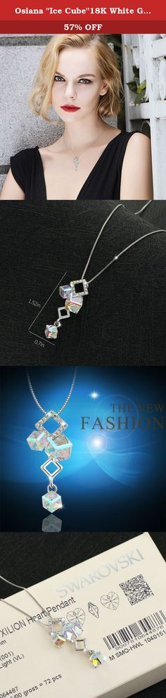 """Osiana """"Ice Cube""""18K White Gold Plated Fashion Pendant Necklace Made With Swarovski Crystal 18""""Dream. Osianastyle specialize in fashion jewellery and creates elegant jewellery out of Silver,Stone,Alloy. About Customer Service We always have an eye to good customer service as we receive orders, and continue to create new ideas. If you have any question about order and product,pls send us message.We will reply your message within 24 HOURS.(Saturday is our Holiday). We are more than happy to..."""