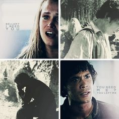 You need me? You left me. #Bellarke #The100 #3x05