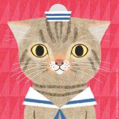 My friend's cat, Toto | flora chang, Happy Doodle Land