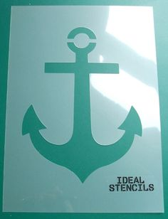 This anchor stencil is the ideal DIY decorating tool if you are wanting to create a nautical theme to a room. It can be used in many ways - this