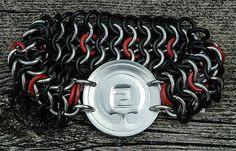 Whispering Elms Studio - Mon stretch maille bracelet in colours! Niagara Region, Jewelry Branding, Whisper, Artisan Jewelry, Colours, Unique Jewelry, Bracelet, Studio, Design