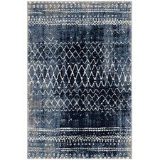 Mistana Loganne Abstract Blue Area Rug Rug Size: Rectangle x Brown Rug, Dark Brown, Accent Rugs, Power Loom, Woven Rug, Outdoor Rugs, Blue Area Rugs, Colorful Rugs, Rug Size