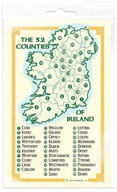 The 32 counties of Ireland - Pride of the Irish Sant Patrick, Irish Culture, Celtic Culture, Irish Quotes, Irish Pride, Irish Blessing, Irish Celtic, Irish Eyes, History