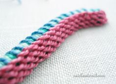 Stitch Play: Casalguidi Stitch – or Really Raised Stem Stitch! – Needle'nThread.com